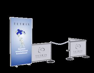LED valokaappi ständi TETRIX valomainos info