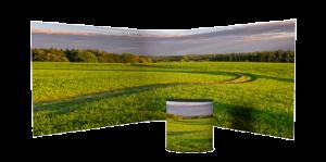 FULL panorama kuva messuseinä