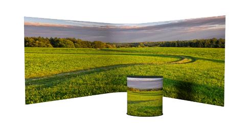 FULL jatkuvakuvallinen messuseinä panoramakuvalla