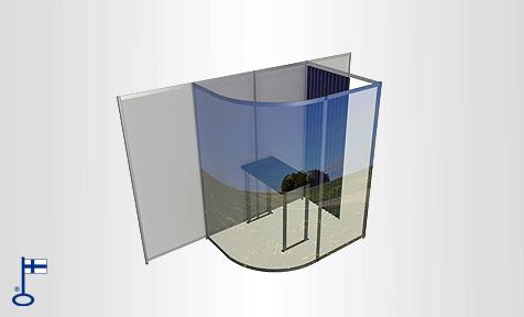 Ilmainen 3D suunnittelu messuseinä ja messuosasto