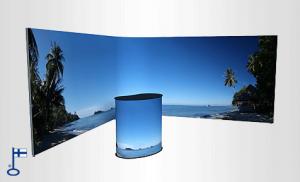 Jatkuvakuvallinen TETRIX FULL panoramakuvallinen messuseinä
